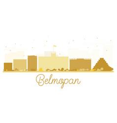 Belmopan city skyline golden silhouette vector