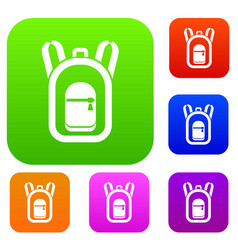 Backpack set collection vector