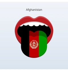 Afghanistan language abstract human tongue vector