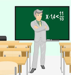 Teacher of mathematics vector