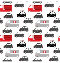 city car seamless pattern vector image