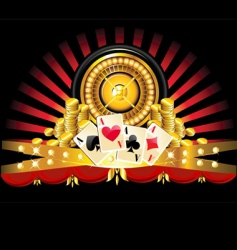 Golden roulette wheel vector