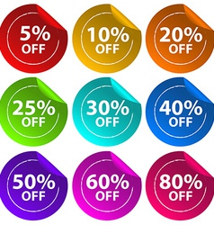 Stickers for discount offers vector image