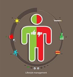 Lifestyle management flat design concept template vector