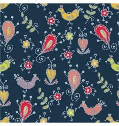 birds floral vector image