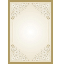 floral vector frame vector image