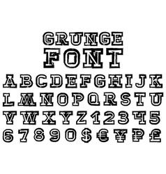 grungeFont vector image