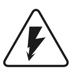 High voltage signal isolated icon design vector
