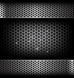 abstract background dark with honeycomb and hold vector image