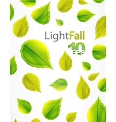 abstract leaves background vector image vector image