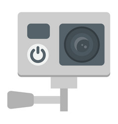 Action camera flat icon device and electronic vector