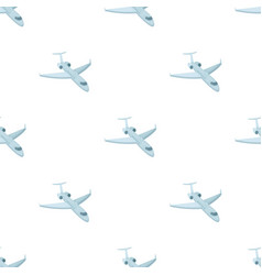 Airplane icon in cartoon style isolated on white vector