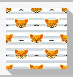 Animal seamless pattern collection with fox 3 vector image