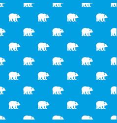 Bear pattern seamless blue vector