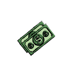 bills dollars isolated icon vector image vector image