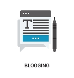 Blogging icon concept vector