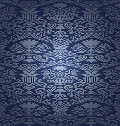 Blue silk seamless abstract floral background vector