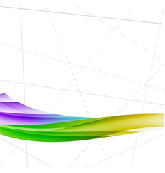 Bright colorful wave folder lines template vector