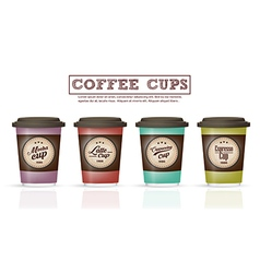 Collection coffee badges and logo design on coffee vector image vector image