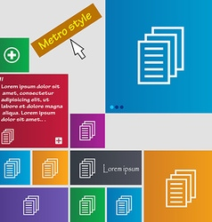 Copy file duplicate document icon sign buttons vector