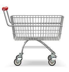 empty supermarket trolley vector image vector image