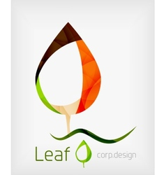 Flat Design Abstract Leaf Shape Concept vector image