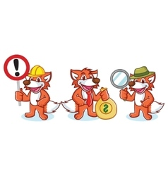 Fox Mascot with money vector image vector image