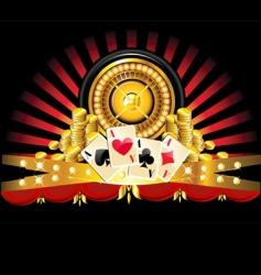 golden roulette wheel vector image