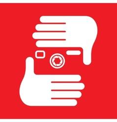 hand camera vector image