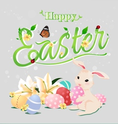 Happy Easter typographical backgroundisolated vector image
