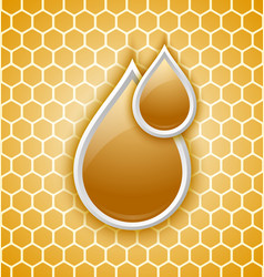 Honey drops icon vector image