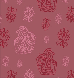 indian elephant seamless background vector image vector image
