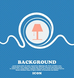 Lamp icon sign Blue and white abstract background vector image