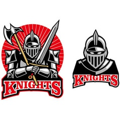 medieval knight mascot vector image vector image