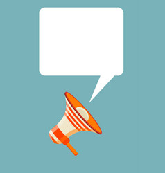 megaphone text bubble card vector image