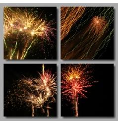 Mosaic Fireworks Set vector image vector image