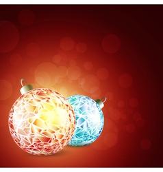 new year bright balls vector image vector image