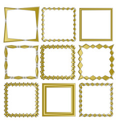 set of frames isolated on white background in vector image