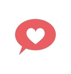 Speech bubble with heart icon vector