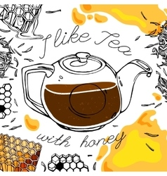 Tea and Honey vector image vector image