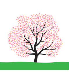 tree with blossom vector image