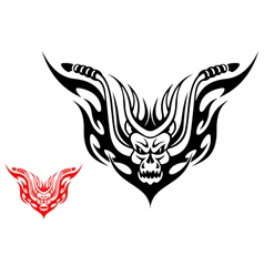Tribal biker motorcycle tattoo vector image
