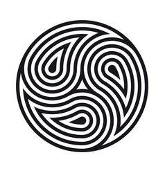 triskelion symbol tattoo geometric circular vector image