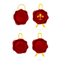 wax seal stamp vector image vector image