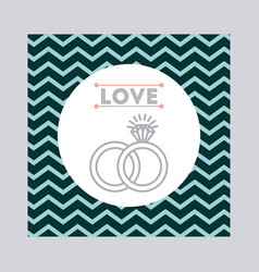 wedding invitation icon desig vector image