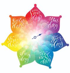 Week days clock vector