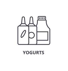 yogurts line icon outline sign linear symbol vector image vector image
