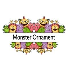 Cartoon Monsters Ornament vector image