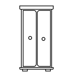 Wardrobe icon outline style vector