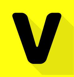 letter v sign design template element black icon vector image